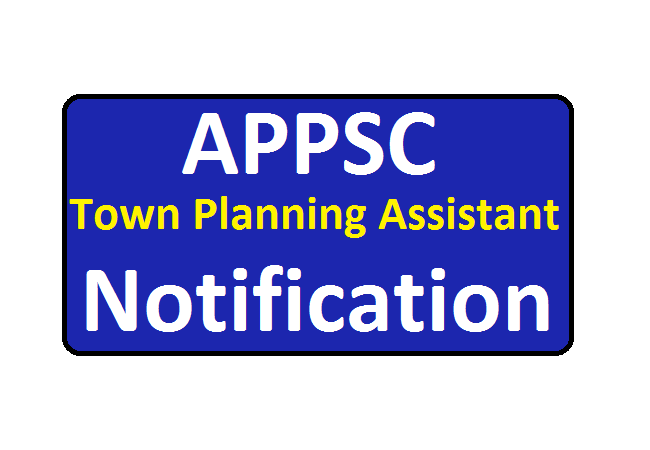 APPSC Town Planning Assistant Notification 2020
