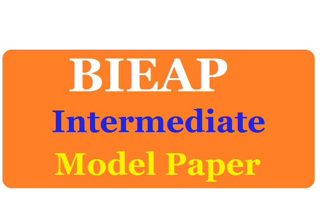 AP 12th Inter Model Paper 2020 Blueprint AP Inter Books & Syllabus 2020