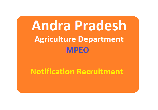 AP MPEO Notification 2020 Apply Online Exam Date Age, Fee, Eligibility Details at www.apagrisnet.gov.in