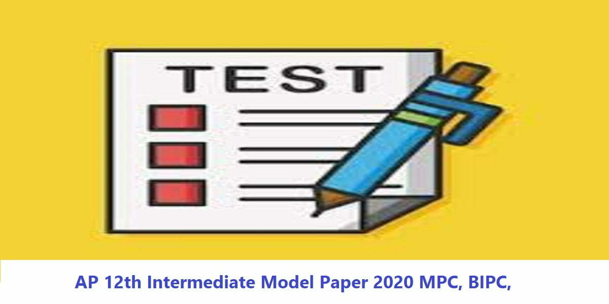 AP 12th Intermediate Model Paper 2020 MPC, BIPC,