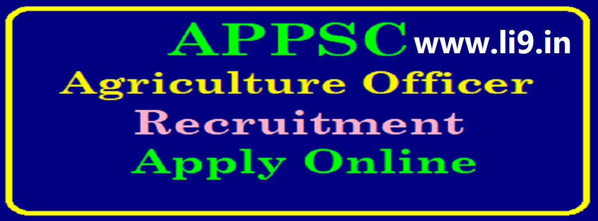 APPSC Agriculture Officer (AO)Notification 2020 Recruitment Apply Online Eligibility & Syllabus