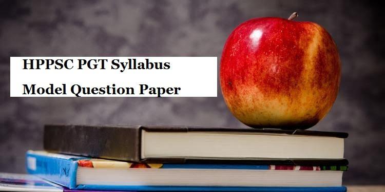 HPPSC PGT Sample Question Paper 2020