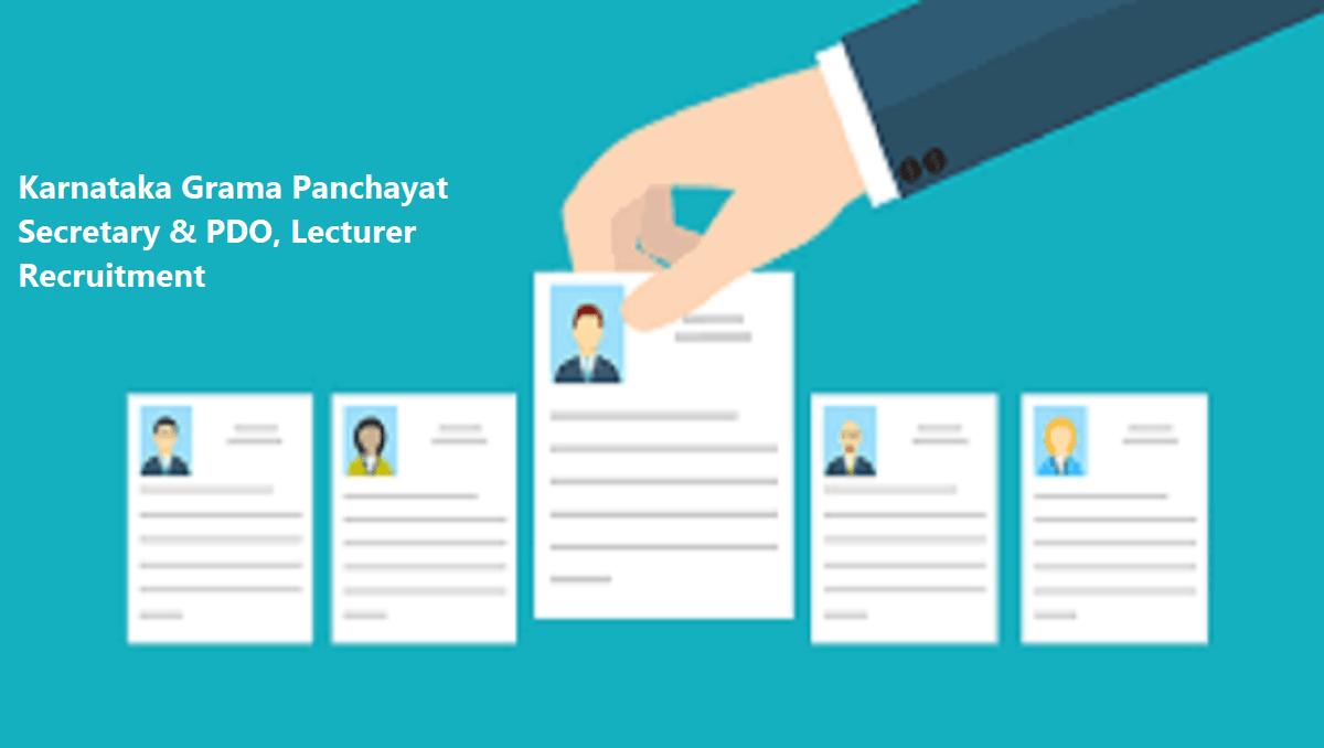 Karnataka Grama Panchayat Secretary & PDO, Lecturer Recruitment