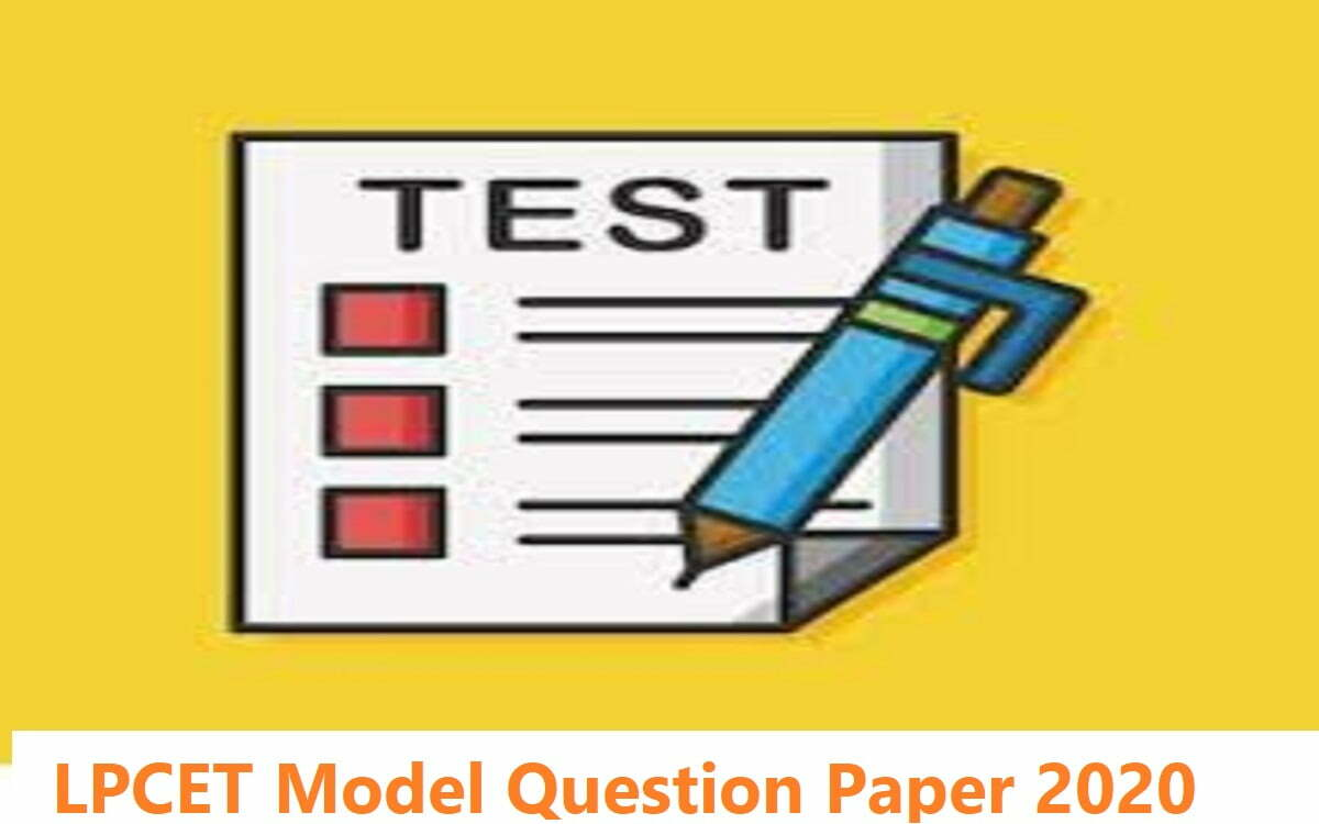 LPCET Model Question Paper 2020
