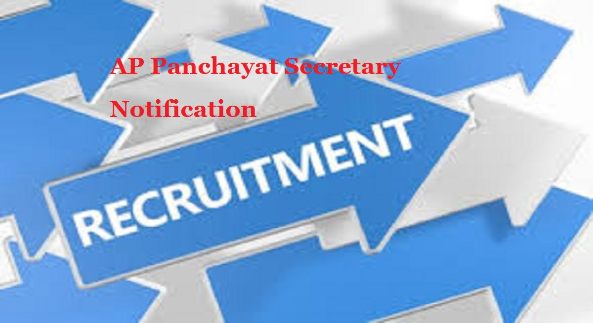 AP Panchayat Secretary Notification 2020 Recruitment Eligibility Exam Date Education Qualifications District wise Vacancy List