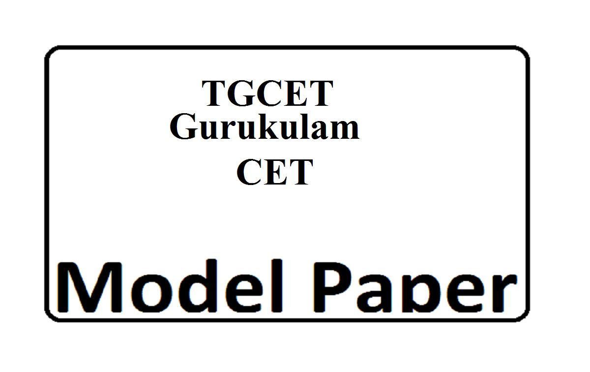 TGCET Gurukulam 5th Class Model Paper 2020