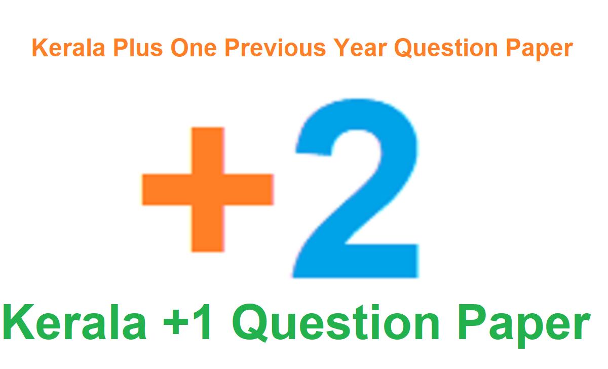 Kerala Plus One Model Question Paper 2020